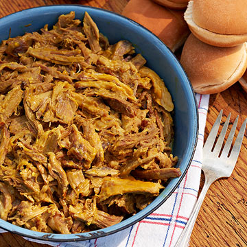 Pulled pork with mustard sauce recipe