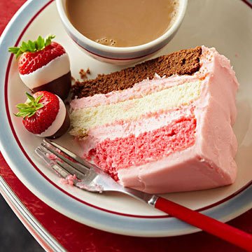 Neapolitan Party Cake Midwest Living