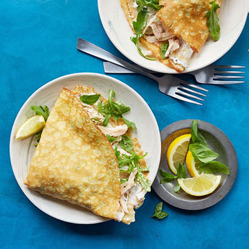 Chicken and Goat Cheese Crepes