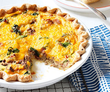 Bacon Cheeseburger Quiche