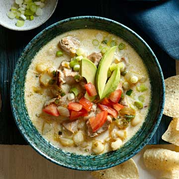 Mexican Pork and Hominy Chowder