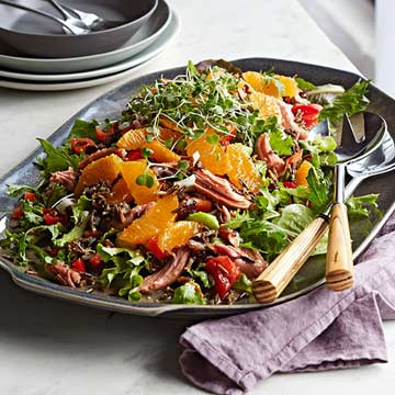 Smoked Turkey and Citrus Wild Rice Salad | Midwest Living