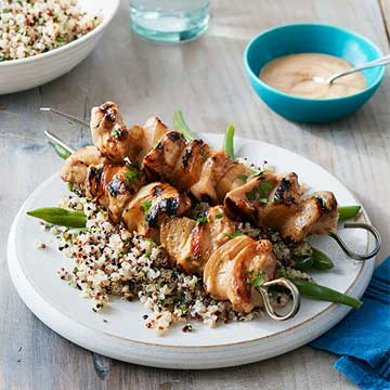 Peanut Chicken Skewers