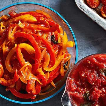 Sweet-and-Sour Peppers and Onions