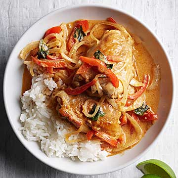 Thai style chicken curry with basil and jasmine rice midwest living thai style chicken curry with basil and jasmine rice forumfinder Choice Image