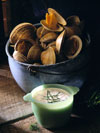 Steamed Clams with Horseradish-Dill Sauce