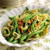Garlic-Mustard Green Beans