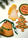 Giant Christmas Card Cookies