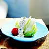Iceberg Lettuce with Cucumber Dressing