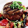 Grilled Beef Fillet with Portobello Relish