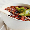 Two-Bean Chili with Avocado