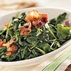Sauteed Spinach with Bacon and Mustard