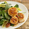 Scallops-Pecans Wilted Salad