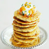 Wild Rice Pancakes with Smoked Trout and Creme Fraiche