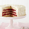 White Chocolate Layer Cake with Cranberry Filling