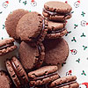 Minty Cocoa Fudge Sandwich Cookies