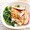 Turkey Steaks with Spinach, Pears, & Blue Cheese