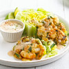 Shrimp Fritters with Romaine