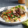 Lamb Chops with Barley Salad and Tomato Dressing