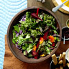 Roasted Beets and Greens with Spicy Orange Vinaigrette
