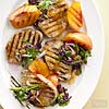 Vanilla Peach Pork Chops with Green Onion Slaw
