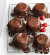 Dark Chocolate-Raspberry Cakes