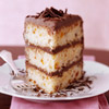Apricot Cream Cake with Chocolate-Mascarpone Frosting