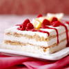 Limoncello Semifreddo with Raspberry Sauce