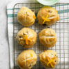 Apricot-Raisin Hot Cross Buns