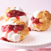 White Chocolate Cherry Cream Puffs