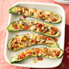 Chicken and Tomato-Stuffed Zucchini