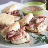 Ham on Biscuits with Red-Eye Gravy