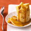 Dulce de Leche Bread Pudding with Glazed Pears
