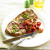 Pork Steaks with  Plum Salsa