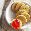 Cheese Wafers with Pepper Jelly