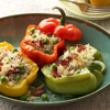 Sweet Peppers Stuffed with Applewood Bacon Risotto