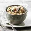 Spinach-Basil Brown Rice Risotto