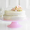 Orange Chiffon Cake with Marshmallow Flowers