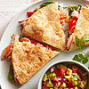 Smoked Salmon Quesadillas with Avocado Salsa