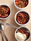 Bacon-and-Crumb-Topped Plum Crisp