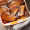 Cherry-Plum Bread Pudding