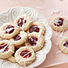 Raspberry-Almond Shortbread Cookies
