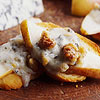 Blue Cheese, Walnut, and Pear Crostini