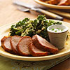 Pork Tenderloin with Quinoa and Greens