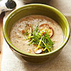 Roasted Mushroom Soup with Dill and Lemon Gremolata