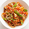 Whole Grain Spaghetti with Asian Peanut Sauce