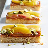 Peach Caramel Blondie Bars