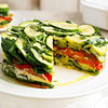Layered Vegetable-Romano Torte