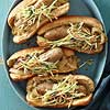 Chicken Bratwurst and Onions with Broccoli Slaw Salad