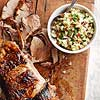Roast Pork with Apple-Walnut Salsa